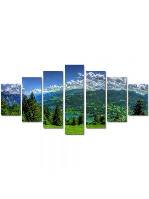 Set Tablouri Multicanvas 7 Piese Peisaj Campie de munte