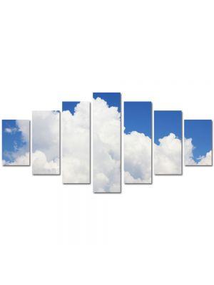 Set Tablouri Multicanvas 7 Piese Peisaj Nori pufosi