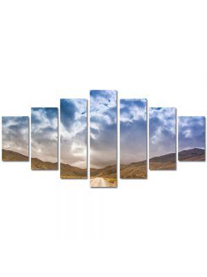 Set Tablouri Multicanvas 7 Piese Peisaj Drum prin desert