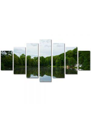Set Tablouri Multicanvas 7 Piese Peisaj Liniste pe lac