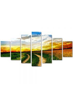 Set Tablouri Multicanvas 7 Piese Peisaj Drum neasfaltat