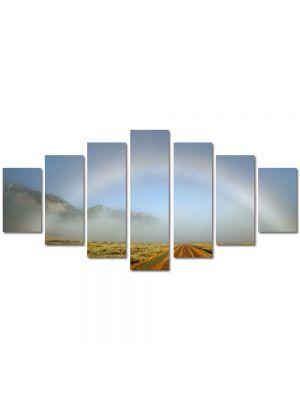 Set Tablouri Multicanvas 7 Piese Peisaj Curcubeu atipic