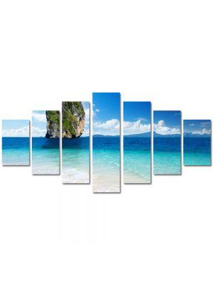 Set Tablouri Multicanvas 7 Piese Peisaj Stanca in mare