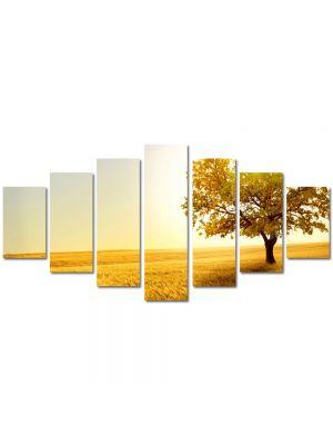 Set Tablouri Multicanvas 7 Piese Peisaj Galben