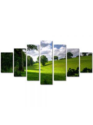 Set Tablouri Multicanvas 7 Piese Peisaj Umbre si campie