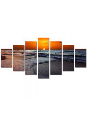 Set Tablouri Multicanvas 7 Piese Peisaj Soare sub apa