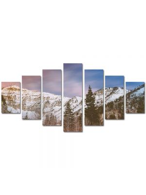 Set Tablouri Multicanvas 7 Piese Peisaj Brazi de munte