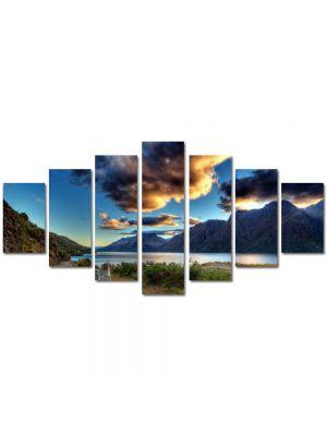 Set Tablouri Multicanvas 7 Piese Peisaj Drum langa lac