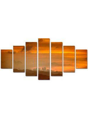 Set Tablouri Multicanvas 7 Piese Peisaj Amurg