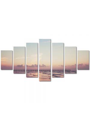 Set Tablouri Multicanvas 7 Piese Peisaj Ponton pe ocean