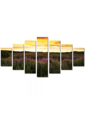 Set Tablouri Multicanvas 7 Piese Peisaj Flori de camp