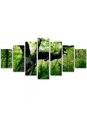 Set Tablouri Multicanvas 7 Piese Peisaj Jungla