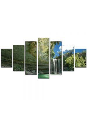 Set Tablouri Multicanvas 7 Piese Peisaj Cascada ireala