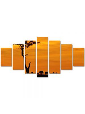Set Tablouri Multicanvas 7 Piese Peisaj Africa