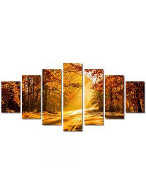 Set Tablouri Multicanvas 7 Piese Peisaj Drum tomnatic