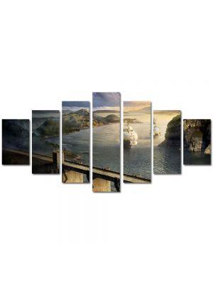 Set Tablouri Multicanvas 7 Piese Peisaj Corabii