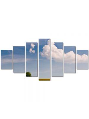 Set Tablouri Multicanvas 7 Piese Peisaj Linie galbena