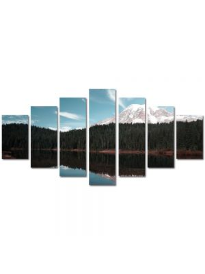 Set Tablouri Multicanvas 7 Piese Peisaj Creasta de munte
