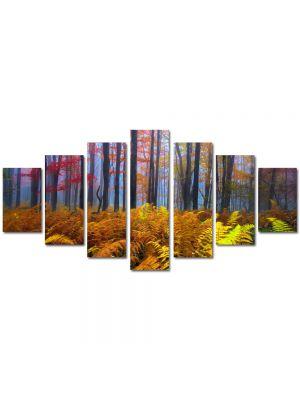 Set Tablouri Multicanvas 7 Piese Peisaj Veriga in padure