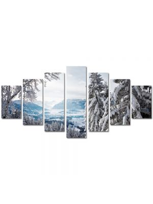 Set Tablouri Multicanvas 7 Piese Peisaj Brazi inzapeziti
