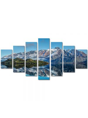 Set Tablouri Multicanvas 7 Piese Peisaj Munti peste ape