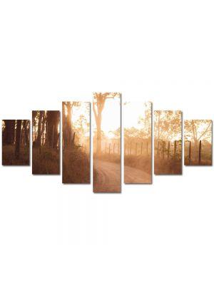 Set Tablouri Multicanvas 7 Piese Peisaj Drum de tara