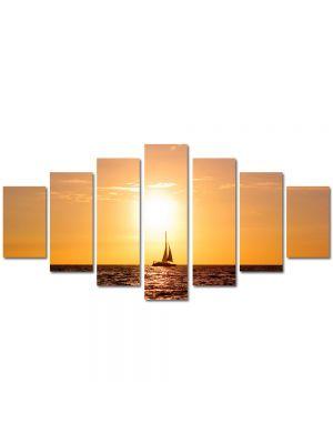 Set Tablouri Multicanvas 7 Piese Peisaj Corabie cu vele