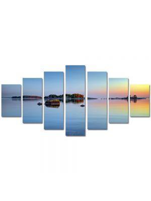 Set Tablouri Multicanvas 7 Piese Peisaj Stanci pe lac