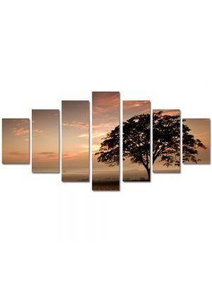 Set Tablouri Multicanvas 7 Piese Peisaj Coroana de copac