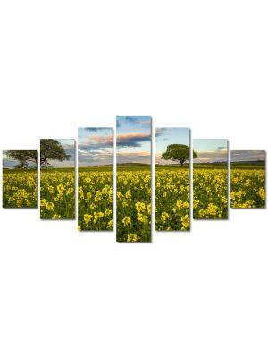 Set Tablouri Multicanvas 7 Piese Peisaj Flori si copaci
