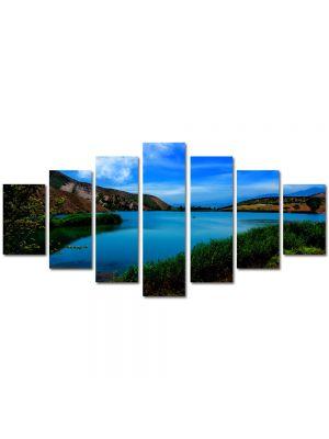 Set Tablouri Multicanvas 7 Piese Peisaj Lac cristalin