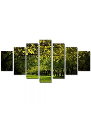Set Tablouri Multicanvas 7 Piese Peisaj Copaci verzi