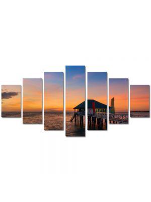 Set Tablouri Multicanvas 7 Piese Peisaj Casa pe ponton