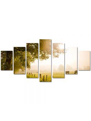 Set Tablouri Multicanvas 7 Piese Peisaj La pascut