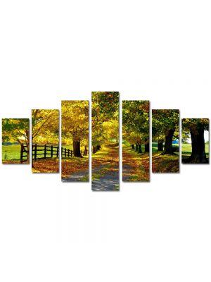 Set Tablouri Multicanvas 7 Piese Peisaj Culori de toamna