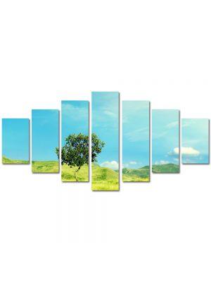 Set Tablouri Multicanvas 7 Piese Peisaj Totul este verde