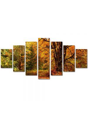 Set Tablouri Multicanvas 7 Piese Peisaj Amestec de culori de toamna