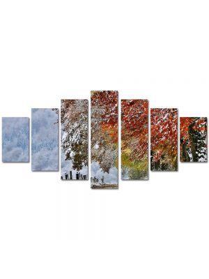 Set Tablouri Multicanvas 7 Piese Peisaj A venit iarna