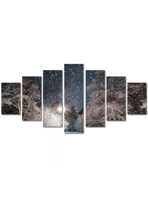 Set Tablouri Multicanvas 7 Piese Peisaj Cer plin de stele