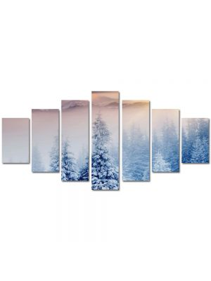 Set Tablouri Multicanvas 7 Piese Peisaj Doi brazi inzapeziti