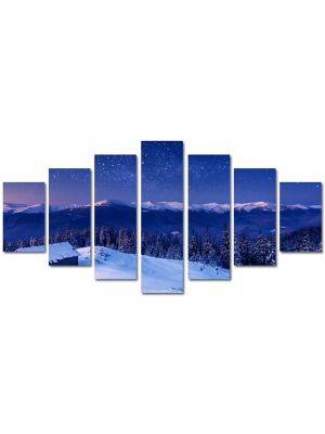 Set Tablouri Multicanvas 7 Piese Peisaj Peste lume