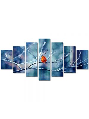 Set Tablouri Multicanvas 7 Piese Peisaj Vine iarna!
