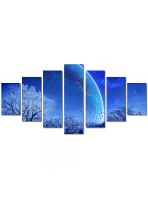 Set Tablouri Multicanvas 7 Piese Peisaj Planete fantastice