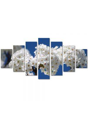 Set Tablouri Multicanvas 7 Piese Peisaj Buchete de flori albe