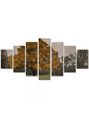Set Tablouri Multicanvas 7 Piese Peisaj Copac la amurg