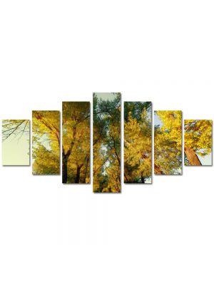 Set Tablouri Multicanvas 7 Piese Peisaj Perspectiva copaci