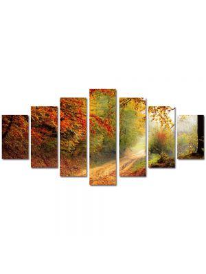 Set Tablouri Multicanvas 7 Piese Peisaj Poteca prin padure