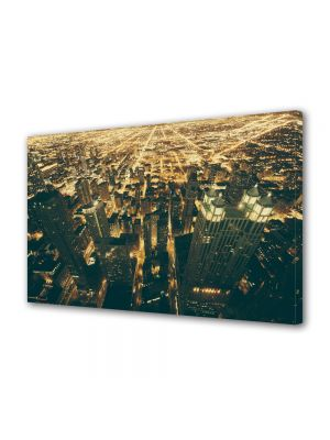 Tablou VarioView MoonLight Fosforescent Luminos in Urban Orase Lumini in Chicago