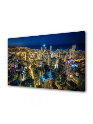 Tablou VarioView MoonLight Fosforescent Luminos in Urban Orase Chicago Colorat