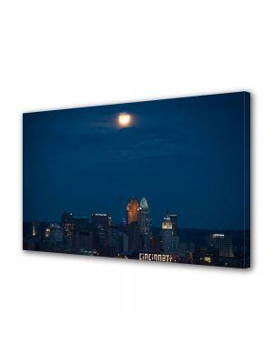 Tablou VarioView MoonLight Fosforescent Luminos in Urban Orase O noapte in Cincinnati